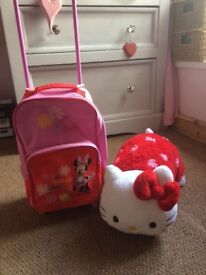 Minnie mouse pillow pet and pull along bag