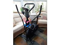Fitness stepper and cycle machine