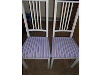 LOVELY RED, WHITE & BLUE SHABBY CHIC CHAIRS FOR SALE.