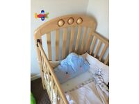Mamas and Papas Amelia Cot and Changing Table plus Mattress and Accessories