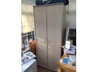 Tall Beech Office Cupboard