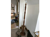 Carved Wooden Floor Lamp Stand