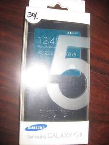 Samsung Galaxy S5 S-View Cover / Flip Wallet Folio Case. Original Samsung. NEW
