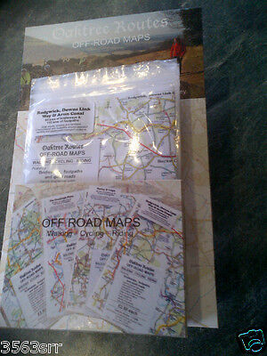 Oaktree Routes Off Road Maps Walking Cycling Riding A4 Laminated