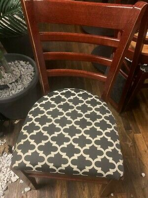 Set Of 35 Brand New Restaurant Chairs.open Back Upholtered Seat.15 Each.