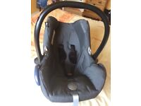 This baby car seat is used but in very good condition.
