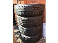 Germany tyres with wheels brand new set of 4 size are 185/55/15 for sale