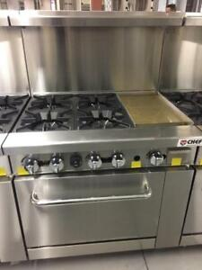 "4 BURNER 12"" FLAT GRIDDLE OVEN...."