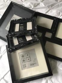 Collection of black photo frames