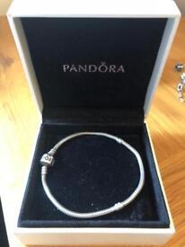 Genuine pandora charm bracelet 31cm