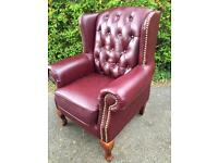 Large red chesterfield chair Possible Delivery