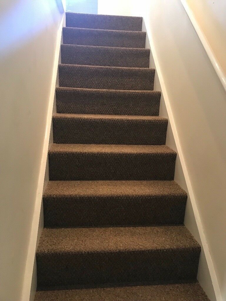 New Brown Carpet Enough For 3 Rooms Landing Hallway And Stairs In