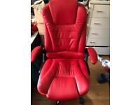 Offices chair in red colours