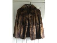 Vintage red fox real fur jacket, size 12-14