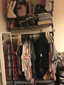 Wall wardrobe stand