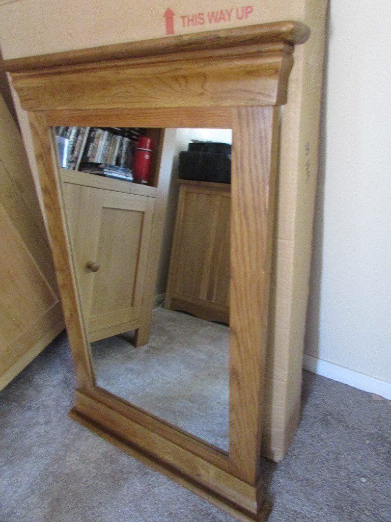 Brand new french farmhouse rustic solid oak wall mirror 65 ono brand new french farmhouse rustic solid oak wall mirror 65 ono amipublicfo Choice Image