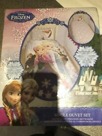 Frozen bed cover single new