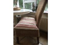 4 Rattan dining chairs with high back