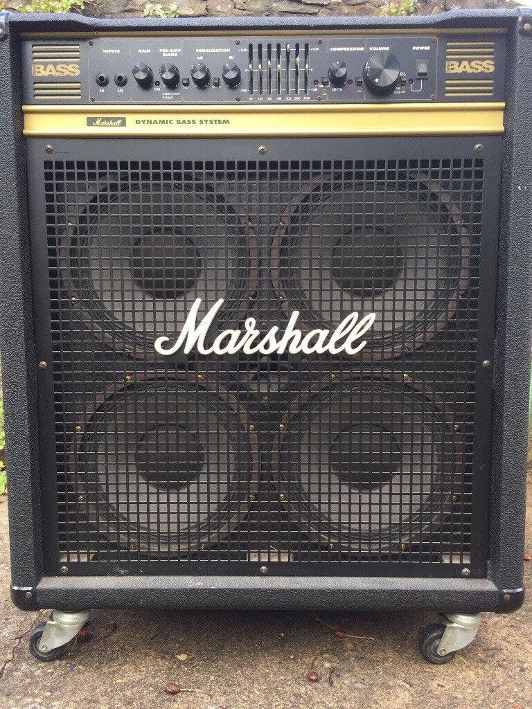 Marshall 100w Bass Combo 4 X10 Speakers Valve Soild State Pre Amp 100 W Audio Amplifier