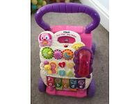V Tech Baby Walker Pink