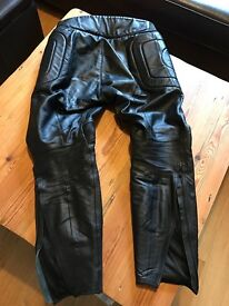 Dainese leather motorcycle trousers - in excellent used condition