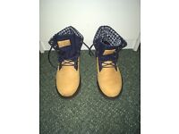 Timberland roll top boots unisex