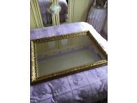 Gold framed large mirror