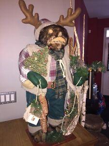 """Christmas moose decor 38"""" tall"""