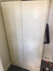White wooden wardrobes x 2