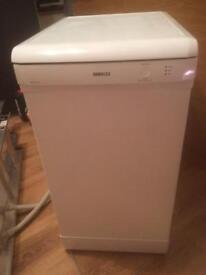 Beko Slimline Dishwasher in white