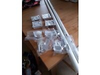 IKEA extendable curtain poles (120 - 210cm) and fittings - white