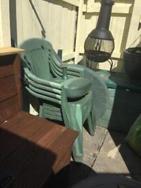 Plastic table a and chairs