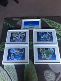 Disney framed pictures and Plate