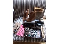 20+ items for ladies - boots, ankle boot, flats, jewellery, belts, bendy curlers