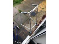 Brand new 2 wheel walker silver...........£40 ONO
