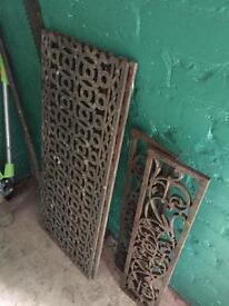 Cast iron decorative grill