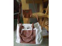 Ted Lapidus brand new brown/cream shoulder/handle bag