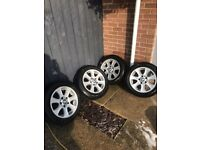 GENUINE BMW 16'' INCH ALLOY WHEELS 5x120 205/55/16 WITH TYRES