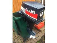 YAMAHA 15HP SHORT SHAFT OUTBOARD MOTOR