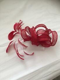 Red comb fascinators
