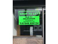 Shop let due to relocation, great location situated between sparkhill , Springfield shopping centre.