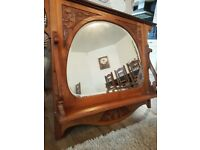 Edwardian overmantle antique mirror