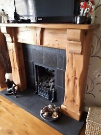 Mexican pine gas fire