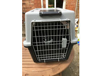 Dog travel crate Ferplast Atlas 50 with wheels - high quality, airline approved, used once, £60