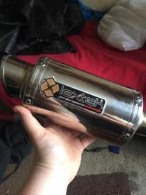 Lextek stubby 3 1/2 inch motorcycle exhaust