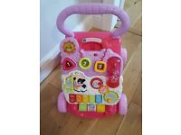 Baby Walker - VTech first steps pink