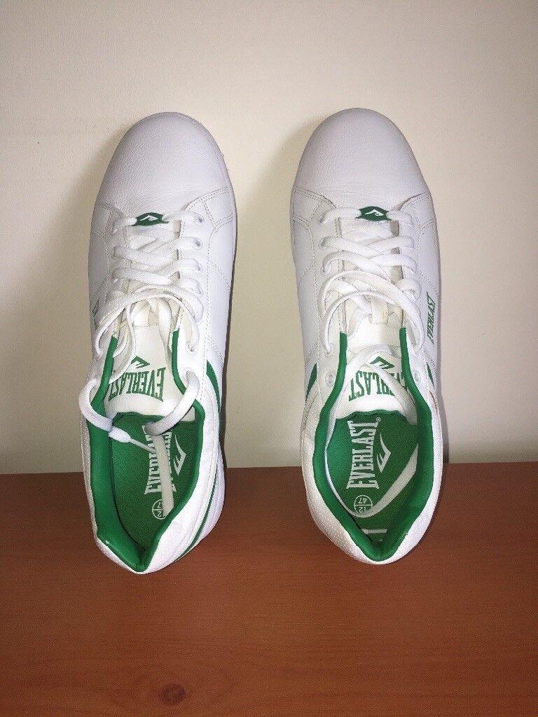 Men white trainers size 12