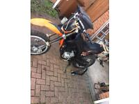 125 Derbi with Honda xlr engine