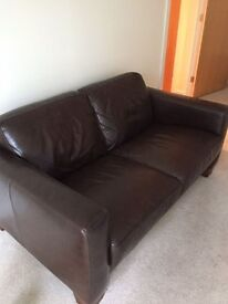 Brown Leather Sofa For Sale - excellent condition
