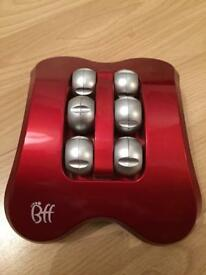 FOOT MASSAGER WITH VIBRATION & ROLLER BALL MODES. (BATTERY OPERATED -included)